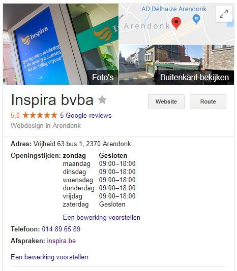 Google Bedrijfsvermelding