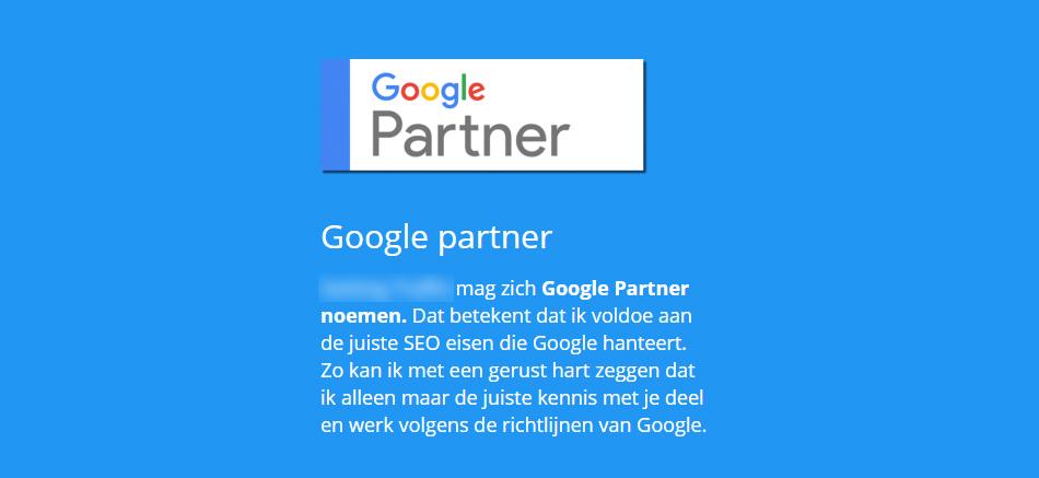 Misleiding van Google Partners
