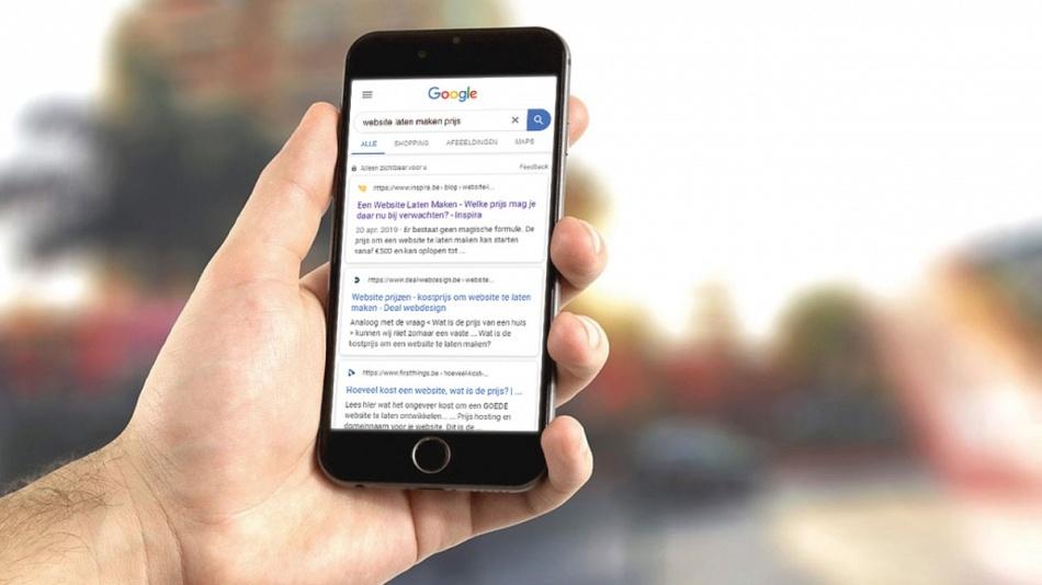 b086e84a4ea De nieuwe mobiele weergave van Google