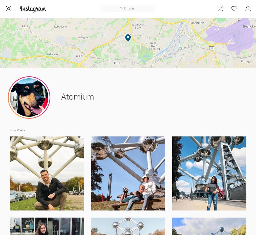 Het Atomium op Instagram