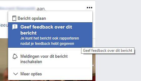 Oneerlijke facebook aanbevelingen melden