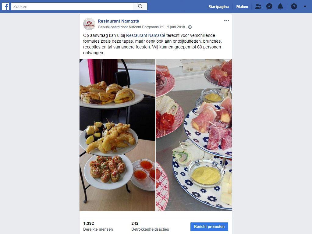 Eten posten op social media